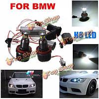 40Вт h8 белый спрятала ксенон 6000К глаза ангела гало кольцо LED Свет для BMW E90 E92 E93