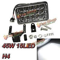 45w 15 LED рабочий свет лампы луч потока для джипа тягача грузовиком 12v 24v Привет Ло луча