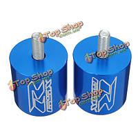 Chrome Aluminum Blue Bar End for 01-07 Suzuki GSXR600