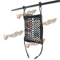 Тележки автомобиля спинка сиденья нейлон крюк хранения багажа эластичный сетчатый мешок держатель, фото 1