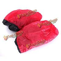 Черный/красный универсальный переднем сидении автомобиля протектор чехлы водонепроницаемые, фото 1
