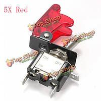 Красный автомобиль Обложка LED spst кулисный переключатель переключатель 12v 20a на Выкл, фото 1
