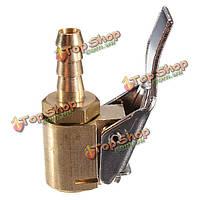 Автомобиль грузовик типа инфлятора клапан 6мм латунный зажим пневматический патрон разъем, фото 1