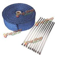 10м тепла пленка изолирует волокна ленты выпускной коллектор тепловой защиты, фото 1