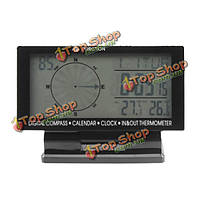 Ec60 4.5-дюйма LED дисплей 12v/24v автомобиль термометр + вольтметр + гигрометр + прогноз погоды + часы