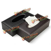 Портативный кожаный прямоугольная коробка ткани насосных бумаги дома автомобиль подарок