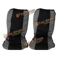 Черный/серый универсальные чехлы на сиденья автомобиля комплект моющийся & воздушной подушки совместимы