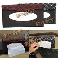 Авто солнцезащитный козырек ткань коробки автомобиля аксессуары для интерьера держатель для бумажных салфеток клип ПУ