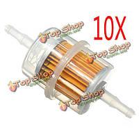10 x запчасти для автомобилей крупными внутренних топливных фильтров авто Бензиновый 6мм 8мм трубы