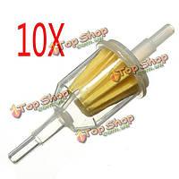 10 X запчасти для автомобилей небольших внутренних топливных фильтров авто Бензиновый 6мм 8мм трубы