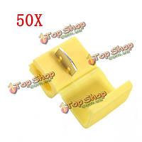 50x желтый скотч замок быстрого соединения 22-кабель 18awg провода разъема