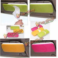 Коробка ткани abs покрывает держателя скрепкой для автомобильной бумажной салфетки противосолнечного козырька аксессуаров