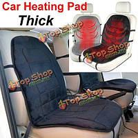 Автомобиль с подогревом накладка чехол для сиденья зимний горячий электрический подогрев подушки толщиной 12 В постоянного тока и бархат