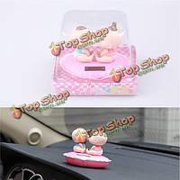 Поцелуй ребенка кивая кукла автомобиль стиль милые аксессуары орнамент подарок солнечной энергии