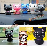 5 цветов Mini украшения кошка автомобиля украшением украшения с автоматическим ходом