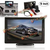 5-дюймов TFT LCD  вид сзади автомобиля резервная обратная парковка монитор ночное видение дисплея комплект