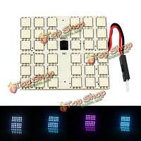 1 пара RGB T10 пульт дистанционного управления 5050 автомобиль LED Свет интерьер комнаты лампа 36SMD 50мм