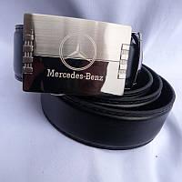 Ремень мужской автомат метал MERCEDES кожзам 35мм купить оптом в Одессе недорого модные 7км