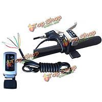 7/8 электрический велосипед руле скорости индикатор батареи большой палец дросселя с собственн-замка