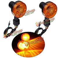 1pair мотоцикл поворота светло-янтарный индикатор