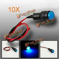 10X10мм универсальный LED индикатор панели приборов контрольная лампа светильник
