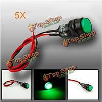 5X10мм универсальный LED индикатор панели приборов контрольная лампа светильник