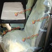 100 x одноразовые пластиковые Чехлы автомобильные автомобиль пленки ролл механик автомобилей служащим гостиницы