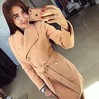 """Женское пальто с широким воротником """"Глянец"""""""