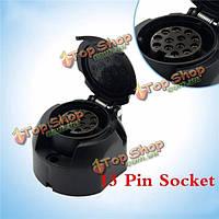 Тироль 13 контактный разъем прицепа черный пластик 13 полюс конец 12v Фаркоп буксировки транспортного средства гнездо