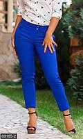 Классические однотонные женские брюки прямого кроя со средней посадкой тиар