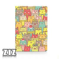 Обложка для паспорта Зимние коты