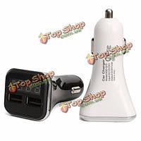 12v 24v к 5V 4.8а 2 порта USB LCD  Автомобильное зарядное устройство адаптер для зарядки телефона мобильного