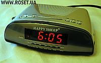 Настольные часы со встроенным радио-проигрывателем Happy Sheep CR-9905