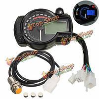 Универсальный мотоцикл мотоцикл LCD цифровой спидометр одометр тахометр f2-4 цилиндр