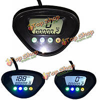 Мотоцикл цифровой LCD одометр миль / ч пробег измеритель CT-02 для f1 цилиндра