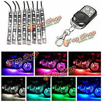 8шт мотоцикл спортбайк ленты RGB LED 5050SMD дистанционное светящийся многоцветный свет