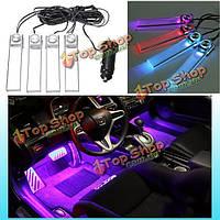 12v 4в1  LED авто интерьера пол тире декоративный атмосферу света лампы
