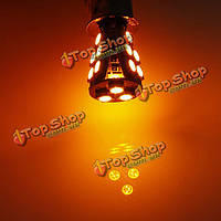 1156 ba15s 18SMD Янтарный/желтый can шины obc ошибка бесплатно свет лампы лампы