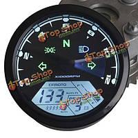12000rmp мотоциклов LCD  цифровой одометр спидометр тахометр f1 2 4 цилиндры