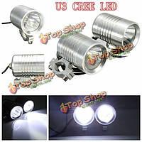 2шт 30Вт Cree и3 LED 12v мотоцикл вождение автомобиля туман пятно лампы лампы