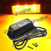 12v 3w 3 LED чрезвычайных фонаря строба желтый плащ