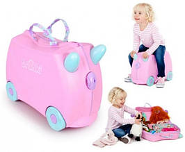 Детский чемоданчик на колесах  TRUNKI ROSIE PRINT HANDLES