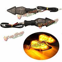 12v 12 LED мотоцикл указателей поворота сигнала стрелка поворотник желтый свет мягкая ручка