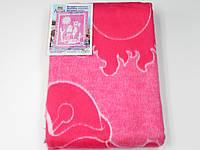 Хлопковое одеяло в роддом (ярко-розовое с верблюжонком)