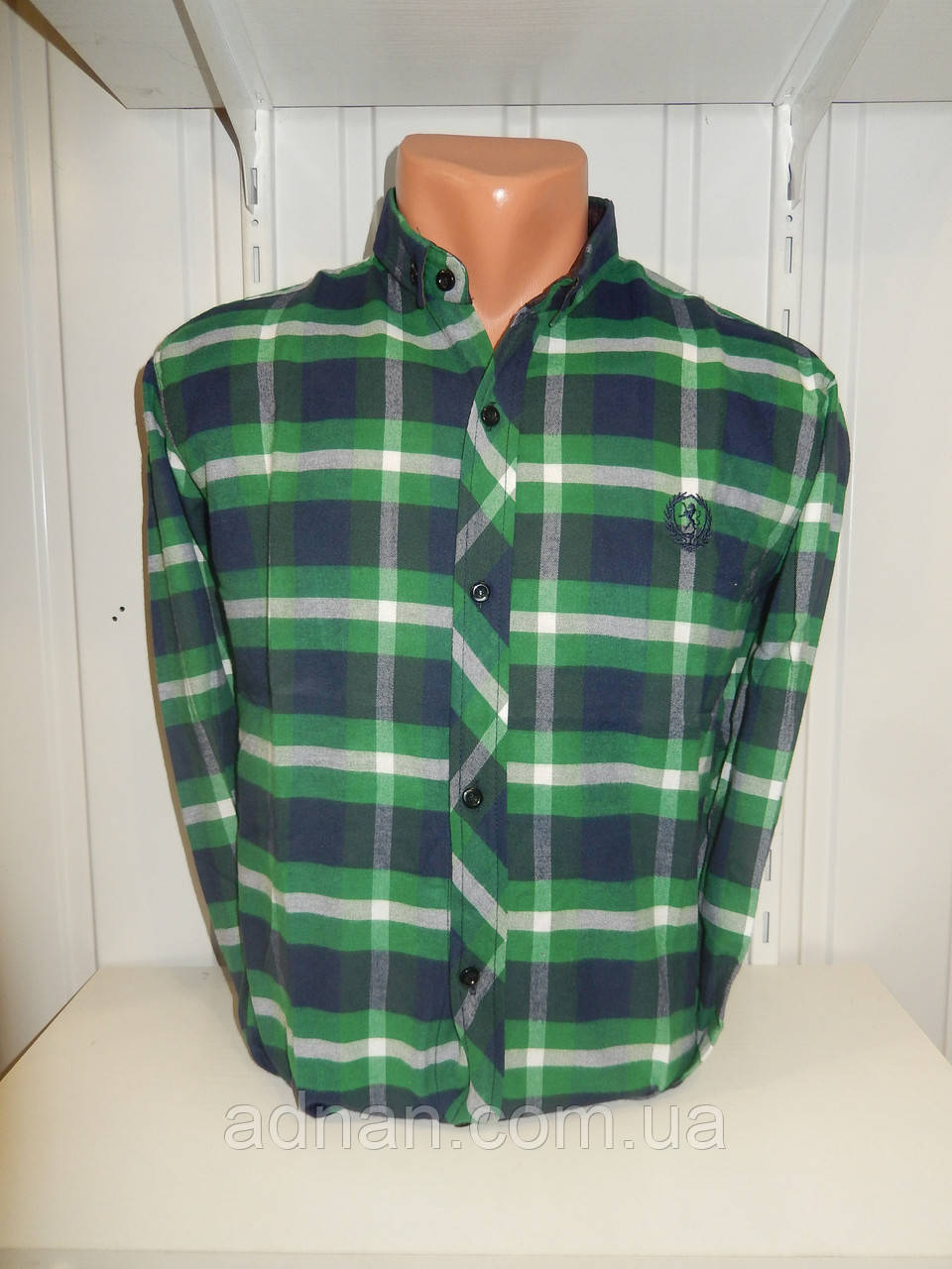 Рубашка мужская TIme SPORT  длинный рукав, клетка, полу-кашемир 003\ купить рубашку