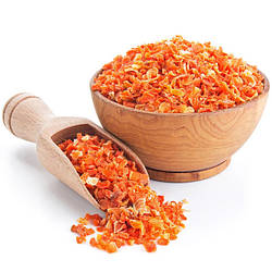 Морква сушена шматочками 3*3, 1 кг. ХоРеКа