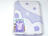 Хлопковое одеяло в роддом (фиолетовое мишка с мишкой)