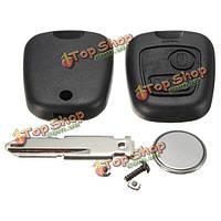 2 кнопки дистанционного ключа дело Shell выключатель комплект для ремонта для Peugeot 206