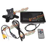 7-дюймов TFT ЖК-дисплей с двумя входами монитор автомобиля с пульта дистанционного управления
