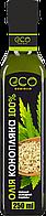 Масло конопляное холодный отжым, EcoOlio, 250мл